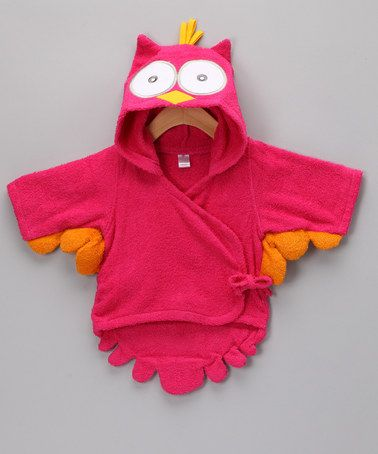 Take a look at this Owl Hooded Terry Robe - Infant by Itty Bitty: Infant Apparel on #zulily today!