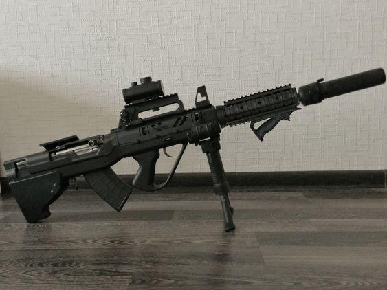 OP SKS-45. SGWorks bullpup conversion kit, AR-15 carry handle, barrel tactical shroud, Fab Defense PTK, PBS-1, TAPCO mag.
