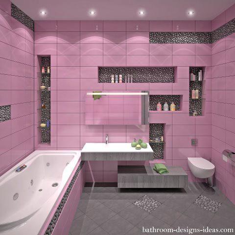 Pink Tile Bathroom Onewayfarms Com Pink Bathroom Tiles Hot Pink Bathrooms Tile Bathroom