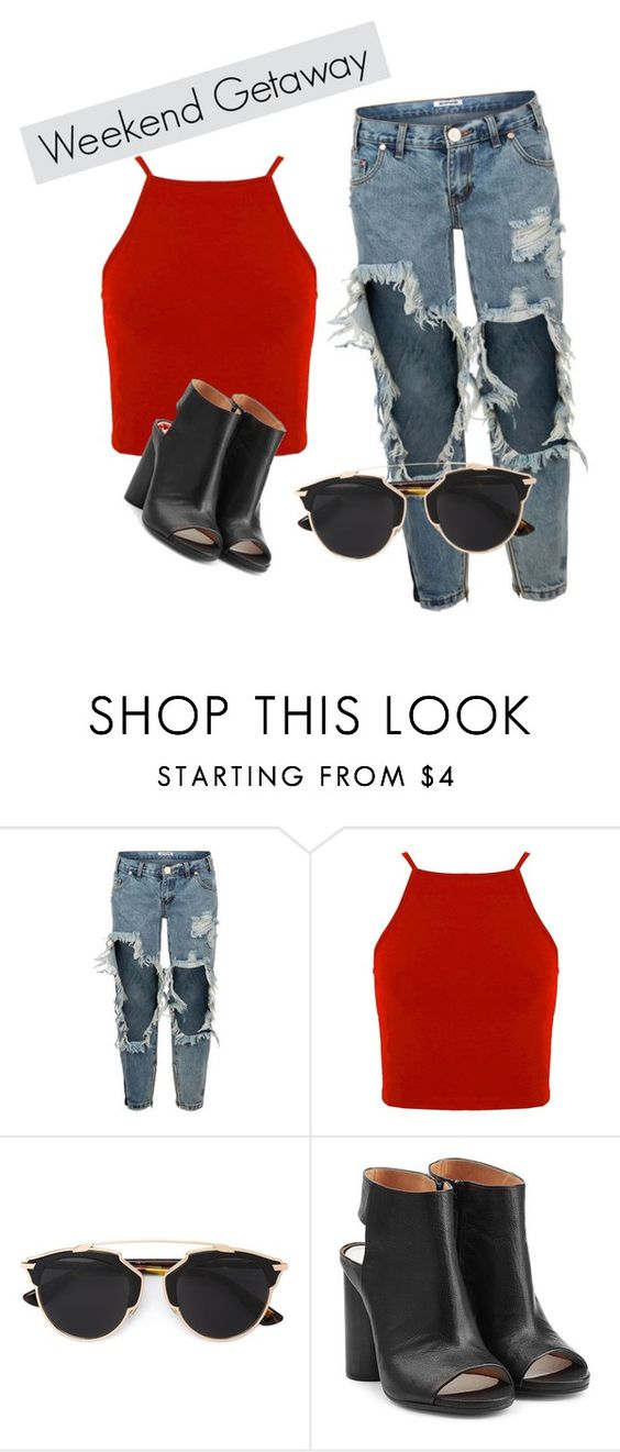 """Sin título #2"" by rodriguezorellana on Polyvore featuring moda, One Teaspoon, Christian Dior, Maison Margiela, women's clothing, women, female, woman, misses y juniors"