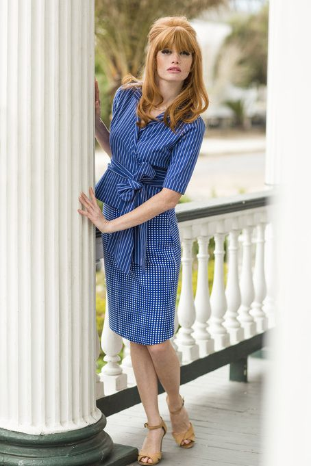 Country wrap top with tie blue color from the Spring Collection by Shabby Apple