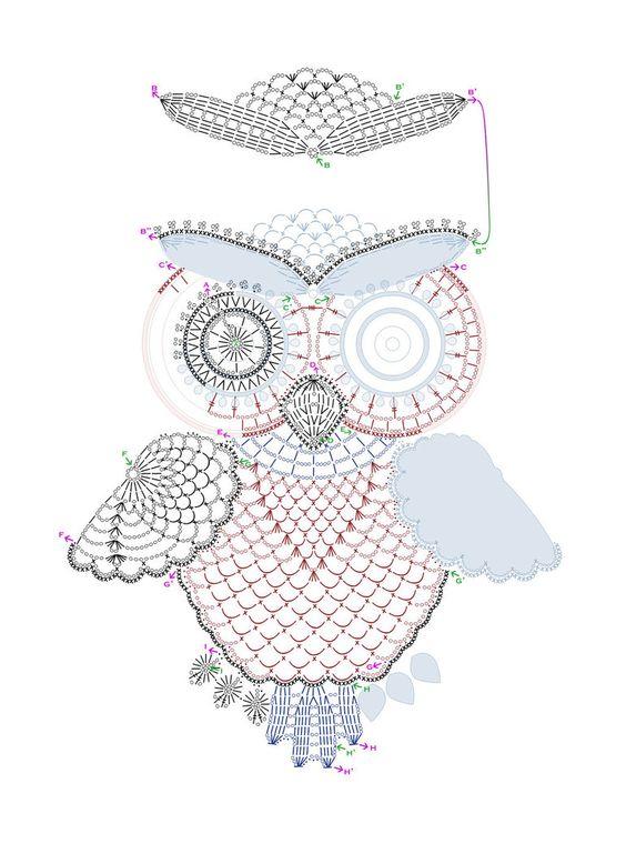 Crochet Owl - Chart ❥ 4U // hf: