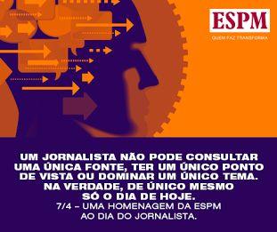 A Alumni ESPM parabeniza os Jornalistas, por entre uma notícia e outra, transformarem o dia a dia em informação.