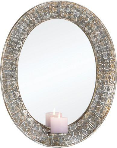 Schicker Spiegel mit Rahmen aus Gusseisen - ein toller Hingucker
