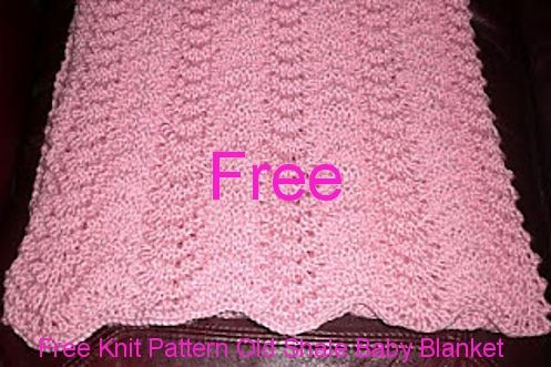 Old Shale Knitting Pattern Afghan : Old Shale Baby Blanket Knit Pattern Knitted blankets ...
