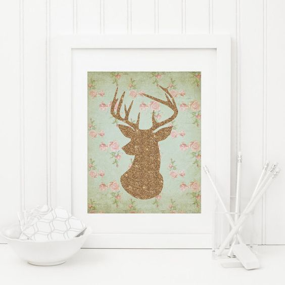 Deer Printable Woodland Animal Print Woodland by MossAndTwigPrints