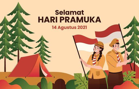 Gambar Ucapan Selamat Hari Pramuka ke-60, 14 Agustus 2021