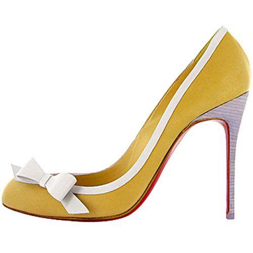 Christian Louboutin Beauty Pumps Leather Yellow