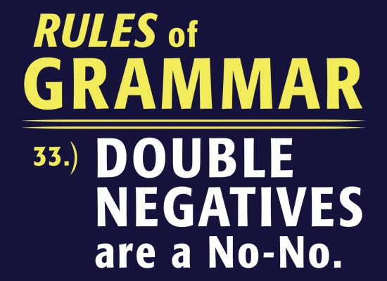 Rules of Grammar