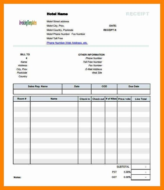 lodge bill format in word 8+ hotel bill invoice format beverage - hotel invoice