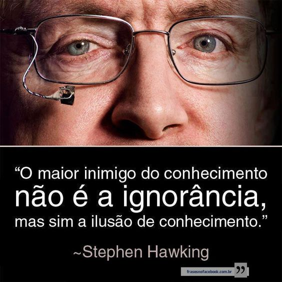 Frases para Facebook - O maior inimigo do conhecimento | Frases com imagens e recados para Facebook: