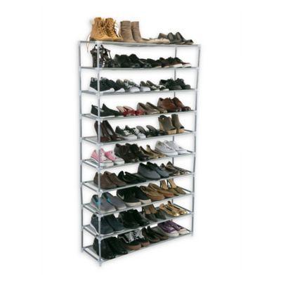 Simplify 10 Shelf Shoe Rack Shoe Rack 50 Pair Shoe Rack Shoe Rack Grey