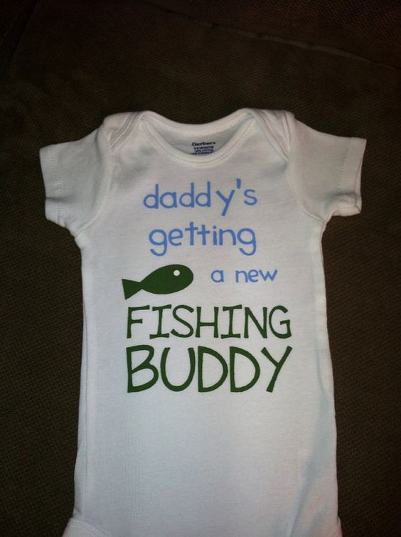 Daddy 39 s getting a new fishing buddy baby onesie or toddler for Fishing gender reveal