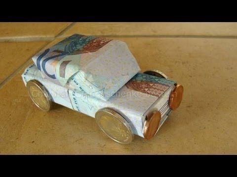 Geldgeschenke basteln: Auto z.B. zum Geburtstag & Führerschein