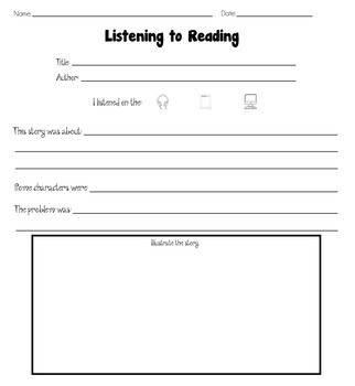 Reading Response Worksheets Packet [Common Core: Literacy ...