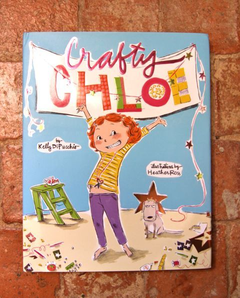 Crafty Chloe and her glue gun. This book looks like a perfect gift for Lily :)