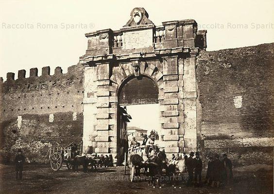 Foto storiche di Roma - Porta San Giovanni Anno: 1860