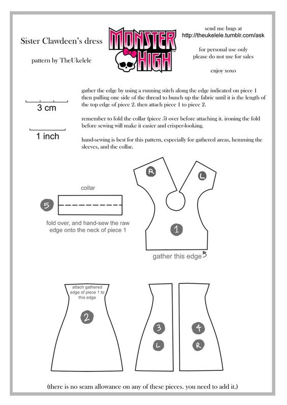 Monster High Sister Clawdeen Dress Pattern by ~TheUkelele on ...