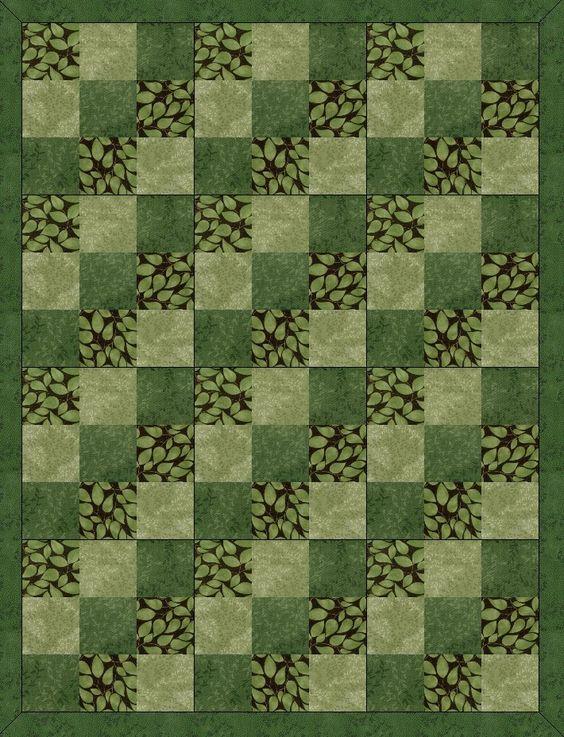 Emeralds Past Quilt Kit Blocks Pre-Cut: