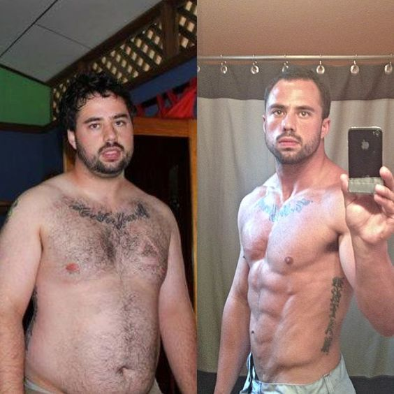 Crossfit guys before and after