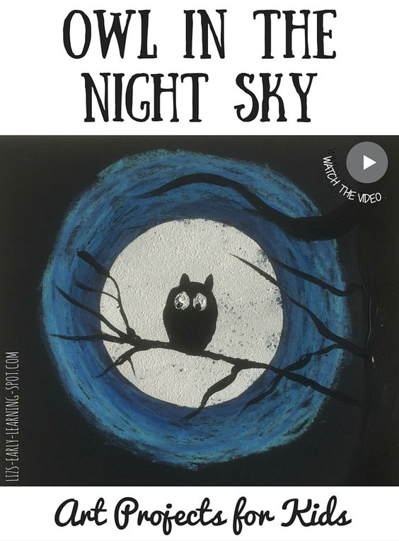 Beautiful Halloween artwork for young children! Free 'how to' sheet and video demonstration.