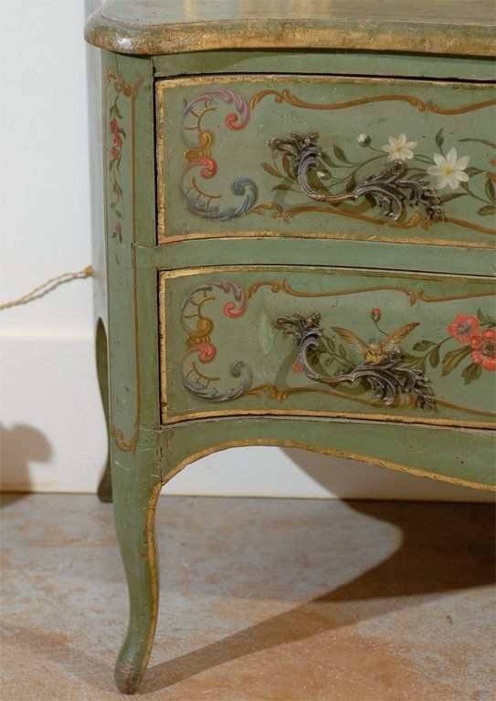 Italian Rococo Style Soft Green Painted
