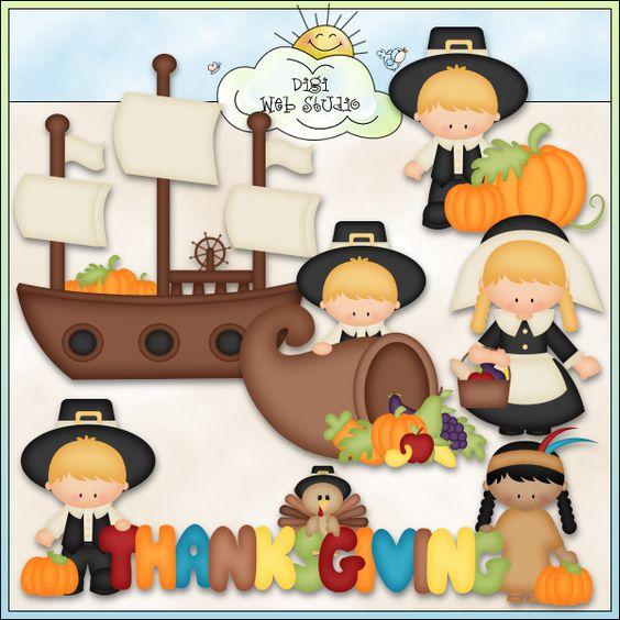Thanksgiving pilgrims cute whimsical | Thanksgiving | Pinterest ...