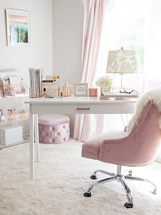 Rose Gold Office Desk Accessories Decorative File Box Set Of 2 Rose Gold File Organizer Magazine File Hold Pink Desk Gold Office Decor Home Office Design