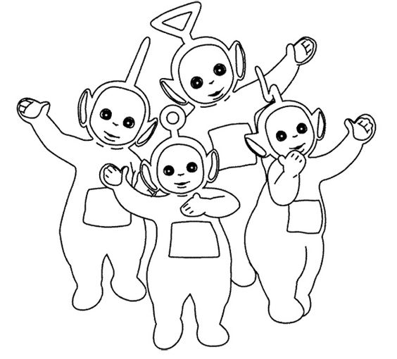 Teletubbies Say Good Bye Coloring For Kids