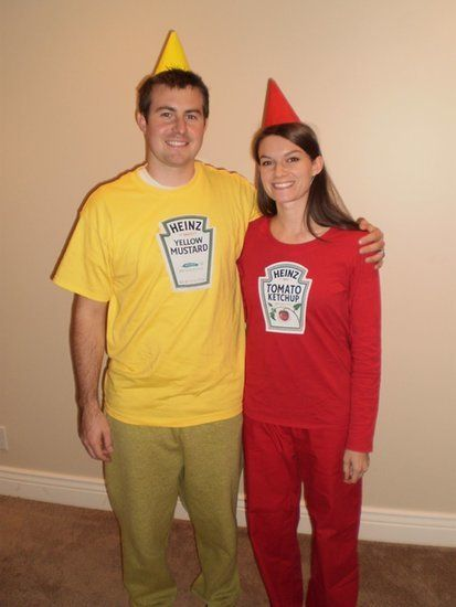 diy ketchup and mustard costume - Google Search