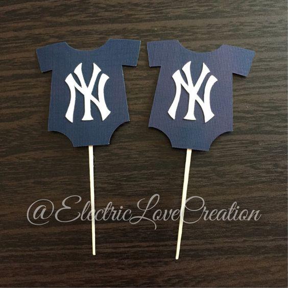 Nueva York Yankees mono Cupcake Toppers - juego de 12