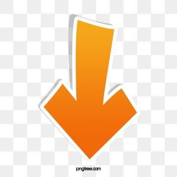 Vector Straight Down Arrow Yellow Stereo Background Banner Web Design Logo Logo Design Free Templates