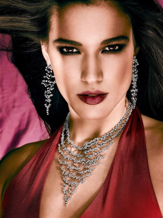 Rosendorff 'Indulgence Collection' Diamond Necklace with Matching Diamond Chandelier Earrings
