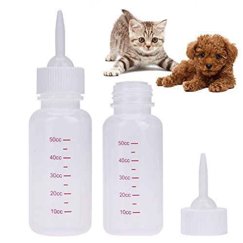 Buildent Tm Pet Feeding Bottle 50ml Puppy Kitten Nursing Milk Bottle For Small Dogs Cats Animal Baby Fe Feeding Kittens Cat Pet Supplies Kitten Care