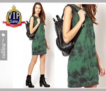 VIP.sale,セレブ愛用者多数 ☆ASOS☆ 袖が取れる2WAYワンピース クルーネックが女性らしくカジュアルな印象を与えます。肩にジッパー付きで取り外し自由その場の気温で長袖からノースリーブに大変身!