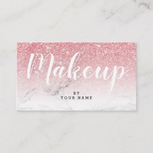 Trendy Pink Gold Glitter Marble Business Card Zazzle Com Makeup Artist Business Cards Artist Business Cards Hand Lettering Styles