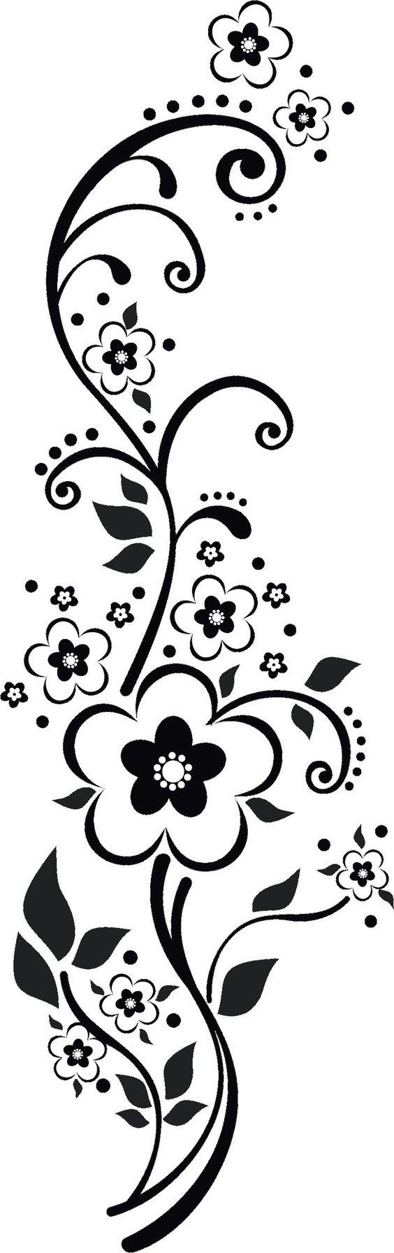Floral swirl patterns - photo#51