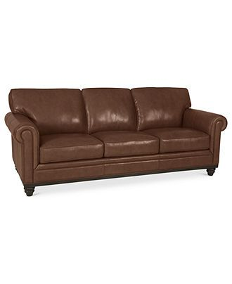 Martha Stewart Collection Bradyn Leather Sofa Shops Home And Leather