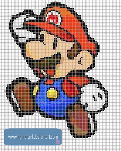 Minecraft Pixel Art Mario Grid Koopa Troopa