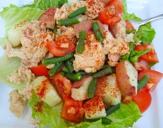 Tuna salad potatoes and recetas on pinterest - Ensalada de arroz con atun ...