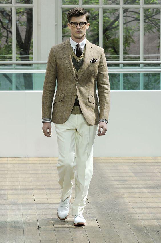 tendencias primavera 2013 vogue hombre colores neutros beige caqui - Hackett London.
