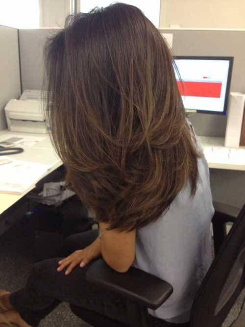 Stilvolle Lange Layered Frisuren Fur Damen Frisur Dicke Haare Haarschnitt Haare Schneiden