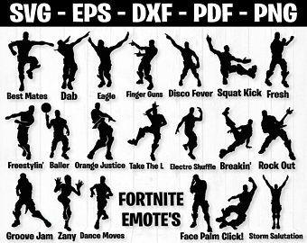 Sale Fortnite Bundle Fortnite Svg Fortnite Clipart Svg Etsy Dance Silhouette Svg Dance Moves