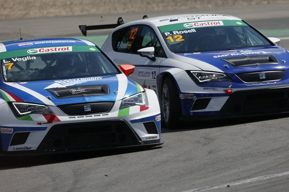 The SEAT Leon Eurocup at the Nürburgring in Germany during the first race
