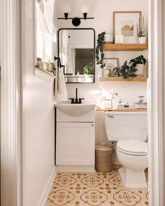 飾り棚 トイレ おしゃれ 便器 棚板 雑貨 トイレットペーパー 植物
