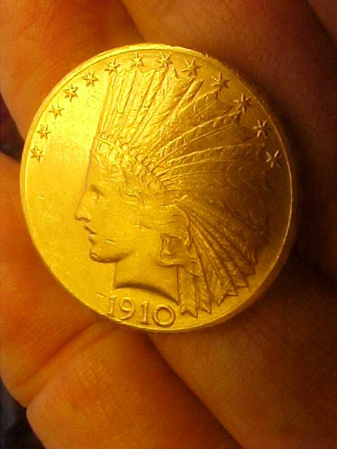 1910 D Gold 10 Dollar Indian Head Us Coin Beautiful Collector S Rarity Indian Head Vintage Copper Coins