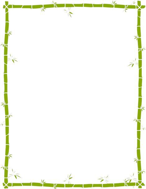 Bamboo Border Png Printable bamboo border . free gif, jpg, pdf, and ...