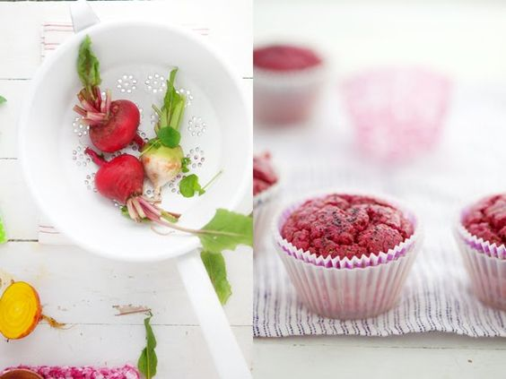 red beet & poppy seed muffins (GF) / via cannelle et vanille