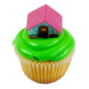Cupcake de Vainilla con piña y casita