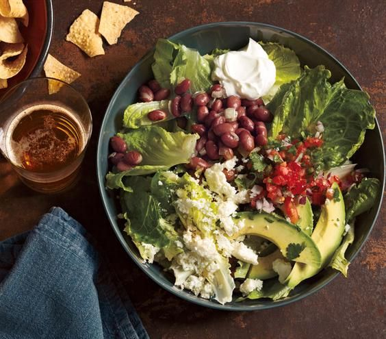 Taco Salad With Pinto Beans and Avocado recipe